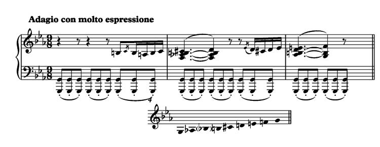 Betowen sonata oktatonicznie